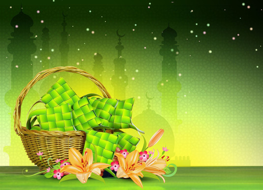 Hari raya 2013 free psd background 535x387